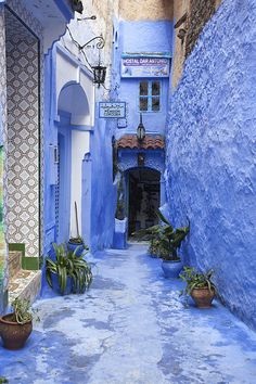 This Moroccan City Is Completely Covered in Ethereal Blue Paint  - HouseBeautiful.com