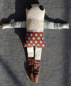 Les jumeaux - Mélilot 2 - poupée de chiffon aimantée - faite à la main à Montréal - 2014 - Anouk Kouri disponible à la Boutique Tah Dah, Montréal