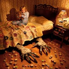 STORY STARTER: Although  __________  always suspected that something was living under her bed, she never had proof until the night of her eighth birthday.  **CCSS:  L.1, W.3, W.10, SL.4 (uses clauses/transitions/commas, writes routinely within time frames, uses adequate volume) Lesson link: http://pinterest.com/elaseminars/ (Photo source below) Have longer lessons delivered to your inbox monthly by clicking http://elaseminars.com/opt-in-1.htm  #writingprompts