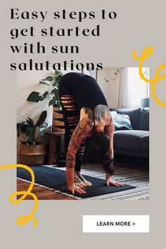 The best, most accessible, welcoming — not to mention the cheapest — place to start with yoga for beginners, is at home with Surya Namaskar!