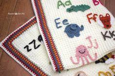 add words to crochet blankets
