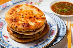 Shrimp Scallion Pancakes Recipe..another interesting recipe..I love unique food..this has the shrimp rolled into the dough..can't wait to try...great for dinner.
