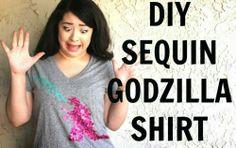iLoveToCreate Blog: DIY Sequin Godzilla Shirt