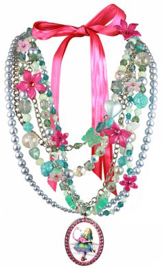 """ACID ALICE"" COUTURE MULTISTRAND NECKLACE"