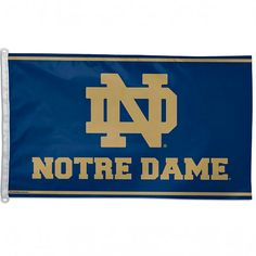 This officially licensed NFL x flag has attached D-rings to use for hanging. The imprinted design is show through to the backside as a reverse image, with a long lasting color-fast die. Fly on a flagpole or hang it on a wall. Made by WinCraft. Notre Dame Logo, Notre Dame Irish, Uk Basketball, Basketball Tickets, Fighting Irish, Sports Fan Shop, Team Logo, Nfl