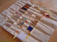 Knitting needle case - tutorial