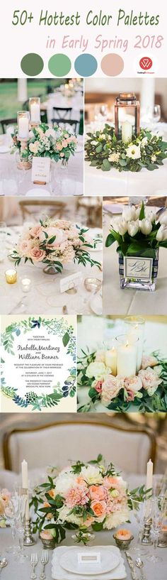 50+ Hottest Early Spring Wedding Color Palettes in 2018 on Budget - Wedding Invites Paper
