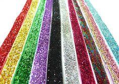 3 Metres OF 9mm Wide Glitter Velvet Ribbon 19 Colours Available   eBay