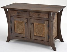 Handcrafted from a solid black walnut & bark panels. The drawer boxes are solid wood with ball bearing drawer glides. NO Veneers! This sideboard is a quality piece of furniture meant to be passed down for generations. We can make vanities, coffee tables, end tables, etc. in this design.