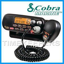 COBRA MR F55 Fixed VHF Marine EU Version LCD Radio for Boat Vessel Yacht - Black