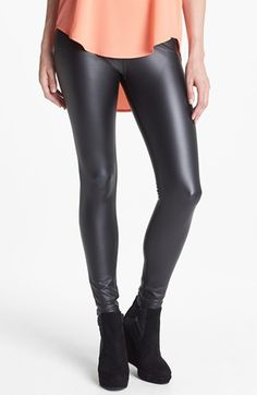 About to buy these. Holy crap. In love. Hue 'Leatherette' Leggings available at #Nordstrom