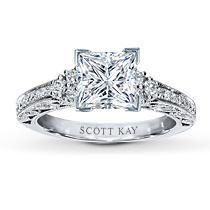 1/3 Ct. t.w. Diamond Ring Setting Round-Cut 14K White Gold
