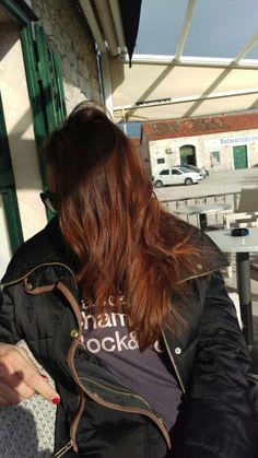 Dark brown mahagoni red hair Lucky Luke, Four Square, Red Hair, Dark Brown, Redheads, Ginger Hair, Red Hair Color, Red Heads, Auburn Hair
