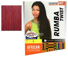 African Collection Rumba Twist Braid  - Color BG - Synthetic Braiding