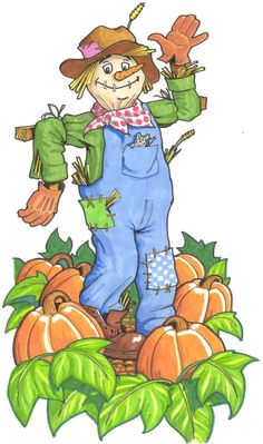 SCARECROWS for primary grades is a thematic unit that includes activities in language arts, math, music, and art. Scarecrow Drawing, Scarecrow Painting, Autumn Painting, Autumn Art, Fall Clip Art, Autumn Activities, Math Activities, Thematic Units, Window Art