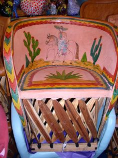 Mexican Painted Furniture | Que Chula Style Mexican Goods ABQ - Equipale Furniture - Mexican ...