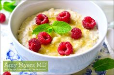 Try this delicious paleo, gluten-free and dairy-freeGinger Meyer Lemon Baked Porridge recipe for a healthy and satisfying breakfast!