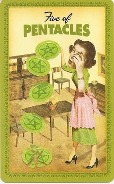 Five of Pentacles - Housewives Tarot