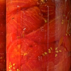 This canned tomato recipe is basic and easy to do. Canning tomatoes when they are in season gives you the opportunity to fill up the pantry.. Canned Tomatoes Recipe from Grandmothers Kitchen.