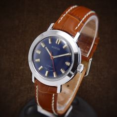 Wostok Rare Soviet Watch With Deep Blue Dial Mint From 70s - divers watch swiss…