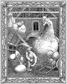 'Stribor's Forest', 2002 - ink drawing by Tomislav Tomić for a picture book written by Ivana Brlić-Mažuranić