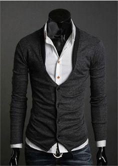 Men Fashion Sweaters Men V Neck Sweaters Mens Cardigan Sweaters Men Button Sweater