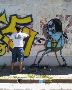 graffiti by Cranio in Brazil