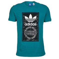 Men's Adidas Originals Graphic Logo T-Shirt Top - Green - Retro Vintage Adidas Outfit, Adidas Shirt, Adidas Men, 3d T Shirts, Mens Tee Shirts, African American Men Fashion, Gucci T Shirt Mens, Polos Lacoste, Men Style Tips
