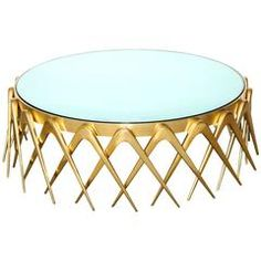 """""""Compasso,"""" Circular Cocktail Table by Roberto Giulio Rida Table Furniture, Vintage Furniture, Cool Furniture, Furniture Design, Vintage Coffee, Vintage Table, Contemporary Dining Table, Glam Room, Mid Century Modern Furniture"""