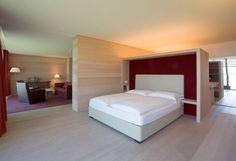 Le camere dell'hotel Virgilius a Lana in Alto Adige