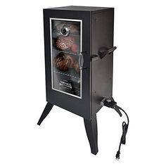 "Smoke Hollow Electric Smoker with Window, 30″, Black  Smoke Hollow Electric Smoker with Window, 30"", Black The Smoke Hollow 30 in. Electric Smoker is great for smoker-style cooking, while never having to worry about running out of LP gas. The double wall construction, keeps the heat generated by the 1,500-Watt element on the inside where you want it. This electric unit operates much like your electric oven inside the home, so just add your favorite wood chips for real smoke BBQ flavo.."