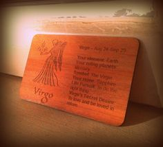 Virgo the Virgin #woodenbetonit card!  Last of her kind if my #pozible #crowdfunding don't reach 100% in 4 days!  If you have a takeaway coffees worth of spare change, would love you to pledge here: pozible.com/woodenbetonit Virgo, Change, Cards, Life, Virgos, Maps, Playing Cards