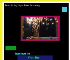 Patio String Light Ideas Decorating 092206 - The Best Image Search