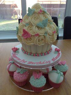 Giant cupcake 1st birthday