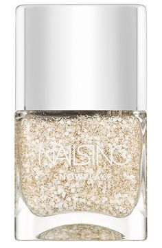 Wearing this glitter and sequin nail polish out for the weekend!