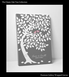 Wedding Guest Book Canvas - Custom Wedding Guest Book - Gallery Wrapped Canvas - 100 Guest Sign In - Ready To Hang On Your Wall via Etsy