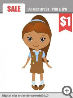scout girl clipart
