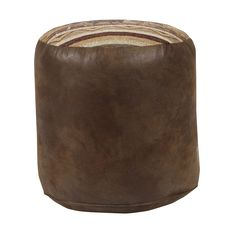 American Furniture Classics Sierra Lodge cube shaped Pouf ottoman. Very useful extra seating in your living room, family room, or den. Proudly made in the United States.