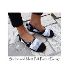 Crochet basic slipper pattern with Cord-Soles attached to the bottom! Ready for street-wear!