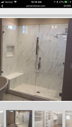 Master Bathroom Shower, Modern Master Bathroom, Bathroom Renos, Bathroom Renovations, Small Bathroom, Bathroom Tile Designs, Bathroom Interior Design, Master Bath Remodel, Shower Remodel