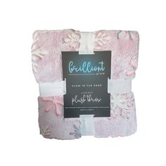 """Brilliant Glow Snowflake Plush Throw Blanket *Closeout Deal* •Pink •Glow in the Dark Soft Plush Blanket •Approx. 50"""" x 60"""" •100% Polyester •Imported •Sold by Stella Saksa •Brand New Snowflakes, Glow, Plush, Blanket, Dark, Collection, Things To Sell, Rug, Sparkle"""