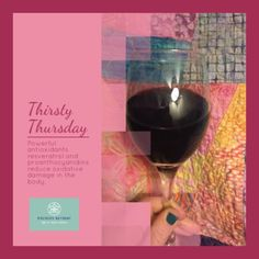 #ThirstyThursday resveratrol is found in grape skins. Antioxidants for glowing skin #dianasays #wineoclock