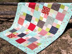 Learn how to make this sweet Layer Cake Checkmate quilt with our video tutorial!