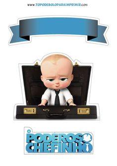 Topo de bolo poderoso chefinho para imprimir Baby 1st Birthday, Boy Birthday Parties, Disney Stitch Tattoo, Sarra Art, Black Girl Art, Boss Baby, Toy Chest, Cake Toppers, Party Favors