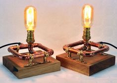 Check out this item in my Etsy shop https://www.etsy.com/uk/listing/506302614/one-pair-industrial-copper-pipe-lamps