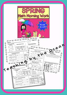 Use these for morning work, homework, seat work or early finishers. Lower second grade students would benefit from this pack as well. This set includes 24 pages of daily math work. Third Grade Science, Teaching First Grade, First Grade Math, Second Grade, Teaching Kindergarten, Daily Math, Math Work, Early Finishers, Morning Work