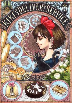 Hayao Miyazaki al estilo Art Nouveau   Ramen Para Dos - Noticias Manga, Noticias Anime, Noticias Videojuegos, Cultura Japonesa