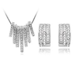 Fashion Accessories austrian crystal wedding earrings necklace women Beautiful traces Jewelry Sets nickel free-inJewelry Sets from Jewelry on Aliexpress.com | Alibaba Group