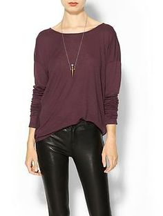 Velvet by Graham & Spencer Luxe Slub Katlen Long Sleeve Tee | Piperlime