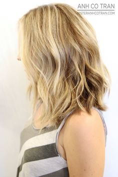 BLUNT + SOFT. Cut/Style: Anh Co Tran • IG: @anhcotran • Appointment inquiries please call Ramirez|Tran Salon in Beverly Hills at 310.724.8167.